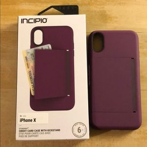 iPhone X case with card holder